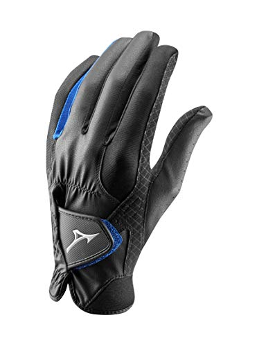 Mizuno RainFit Damen-Golfhandschuhe RainFit für Damen, 1 Paar, Schwarz/Königsblau, Größe M/L