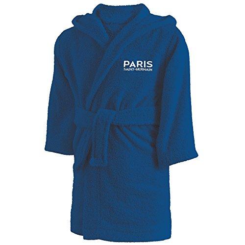 PSG Peignoir Bouclette, Coton, Bleu, 116x128 cm pour 6/8 ans