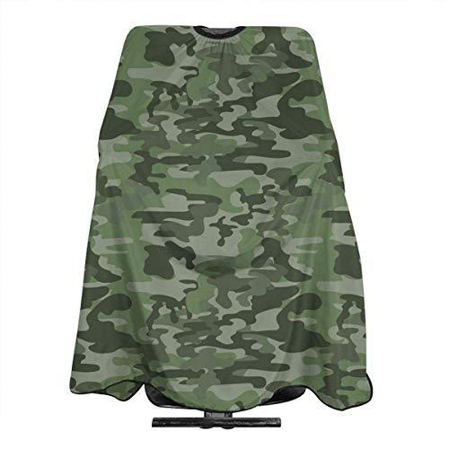 Haarschnitt Cape Forest Green Camouflage Klassischer professioneller Salon...