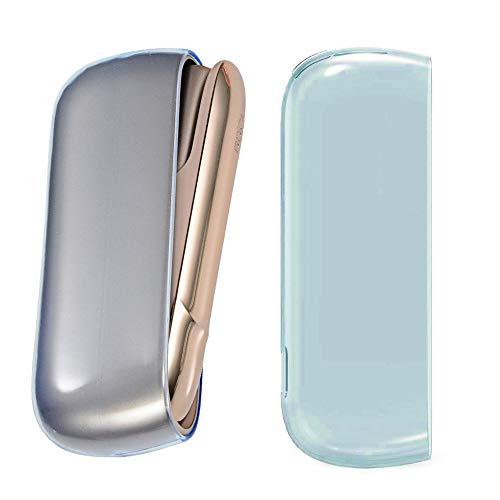 jbTec Schutz-Hülle Case passend für IQOS 3.0 / Duo - Tasche Zubehör Etui Cover Schale E-Zigarette Abdeckung Aufbewahrung Bag TPU Schutzhülle Hull, Farbe:Blau-Transparent