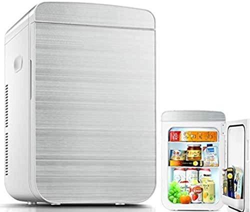Mini nevera, Dual-Core de doble uso, de gran capacidad 25L mini coche pequeño refrigerador, 220V AC/DC 12V portátil refrigerador termoeléctrico, pantalla digital Edición 1yess