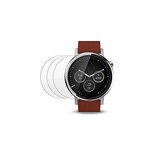 Displayschutzfolie für Moto 360 1. und 2. Generation, 46 mm, wasserdicht, gehärtetes Glas, hochempfindlich, klar, Kratzfest, für Moto 360 1. und 2. Generation, 46 mm, 4 Stück