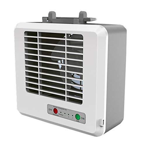 ALYR Portátil Aires Acondicionados Ventilador, Personal Mini USB Climatizadores Enfriador De Aire para la Mesa de la Oficina en casa,White