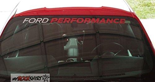myrockshirt Kompatibel für Ford Performance 90 cm Aufkleber Sticker freie Farbwahl, ohne Hintergrund, UV und Waschanlagenfest,