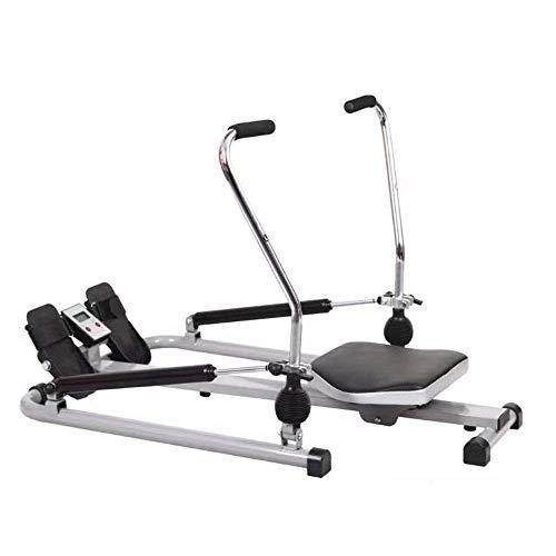 XBSLJ Rudergeräte klappbar Klappbare Sitzbank Fitness Rudergerät Hydraulischer Widerstand Sitzposition Rudergerät Multifunktionales Rudergerät Übung für den unteren Rücken Rückenlage