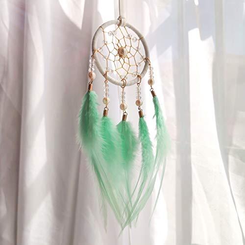 nobrand Creative Hand-Woven Decorative Pendant Dream Catcher, Bedroom Car Birthday Party Gift (Green)