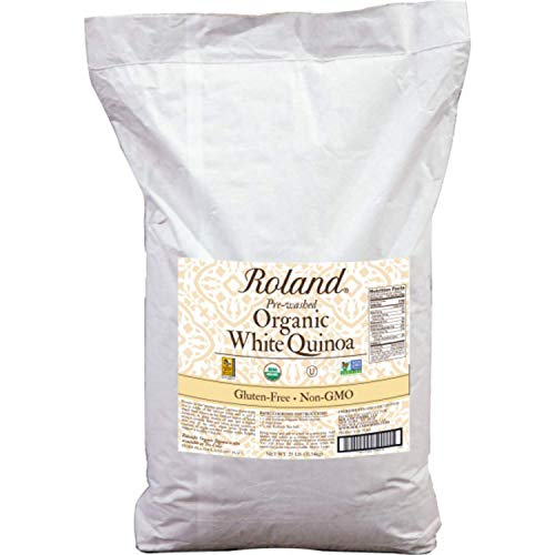 Roland Foods Organic White Quinoa, Pre-washed, Specialty Imported Food, 25 Lb Bag