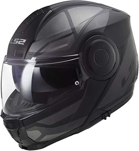Casco de Moto LS2 FF902 Scope Axis Black Titanium, Negro y Titanio, L