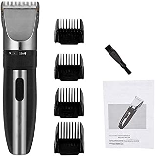 Mopoq Professional Low Noise Rechargeable Hair Cutting Machine Adjustable 0.8-2Mm Electric Shaving Titanium Ceramic Blade ...