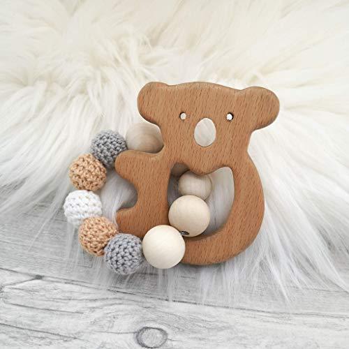Holz Beißring Koala, Greifling, Baby, zahnen,