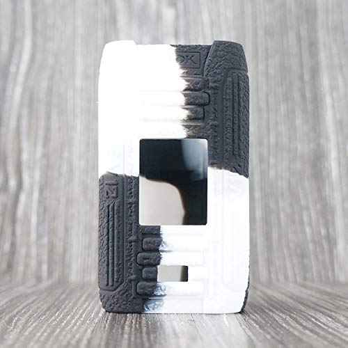 CEOKS SMOK E-PRIV 230W Custodia Silicone Cover Case Protegge Il Gel Custodia Protettiva in Silicone per SMOK E-PRIV 230W Kit TC MOD Box Antiscivolo Non-Slip (Nero-Bianco)