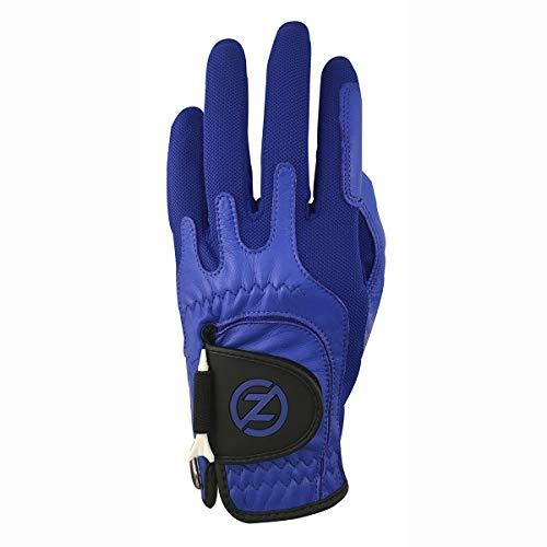Zero Friction GL70010 Men's Cabretta Elite Golf Gloves, Blue, One Size, Left Hand