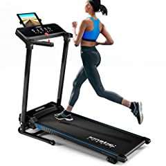 Kinetic Sports KST4600FX löpband vikbar elektrisk 1100 watt tyst elmotor 12 program, upp till 120kg, GEH och kör utbildning, tabletthållare, upp till 12 km / t, lutande justerbar