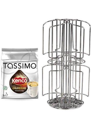 Kenco Pure Colombian und der neue Kaffee-Kapselhalter für Tassimo 48 Disc unkompliziert oben einfüllen diese unten entnehmen