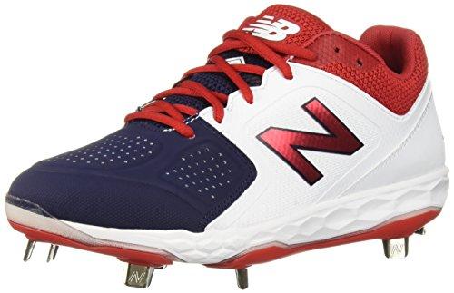 New Balance Women's Fresh Foam Velo V1 Metal Softball Shoe, Red/White/Blue, 9 M US