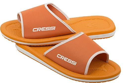 Cressi Lipari Chanclas para Playa y Piscina, Unisex, Naranja/Blanco, 32 EU