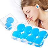 Reusable Silicone Ear Plugs, Silicone Earplugs, 5 Pairs Waterproof Noise Cancelling EarPlugs, Ear Plugs for Sleeping for Sleeping, Shooting, Airplanes, Mowing, Perfect for a Light Sleeper