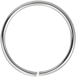 9k oro 22 Gauge - anello di 6mm diametro cerchio aperto continuo senza cuciture naso Piercing naso