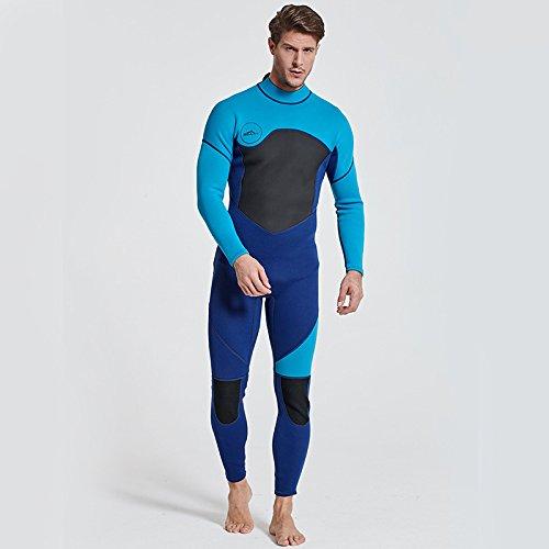 Sbart - Muta da uomo, lunghezza intera, 3 mm, per l'estate, invernale, per adulti, in neoprene, per surf, immersioni, nuoto Blu L