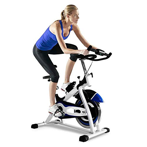 Ciclismo Indoor bicicleta estacionaria, aleación de aluminio antideslizante del pedal, totalmente silencioso Cinturón de dos vías de transmisión, for el hogar Cardio entrenamiento de la gimnasia