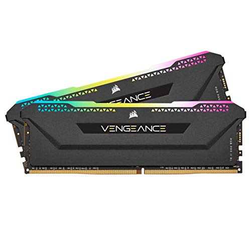 Corsair Vengeance RGB PRO SL 32GB (2x16GB) DDR4 3600 (PC4-28800) C18 1.35V Optimized for AMD Ryzen - Schwarz