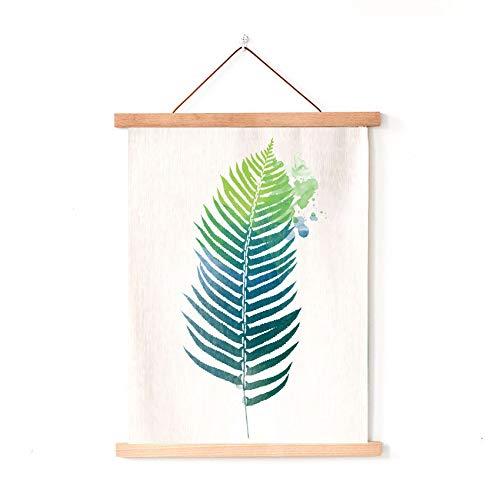 lsaiyy Europäische Pflanzen kleine frische Axt Malerei Stoff Malerei Sofa Hintergrund Wanddekoration Malerei B & B Hintergrund Wandbehang 37 50x70cm Baumwolle und Leinen