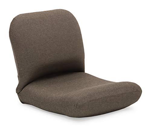 産学連携 背中を支える美姿勢座椅子3 ブラウン 腰痛 日本製 リクライニング 姿勢 人気 コンパクト