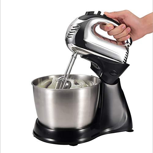 Standmixer, Tilt-head elektrische keukenmixer 250W met roestvrijstalen kom, deeghaak, klopper, garde
