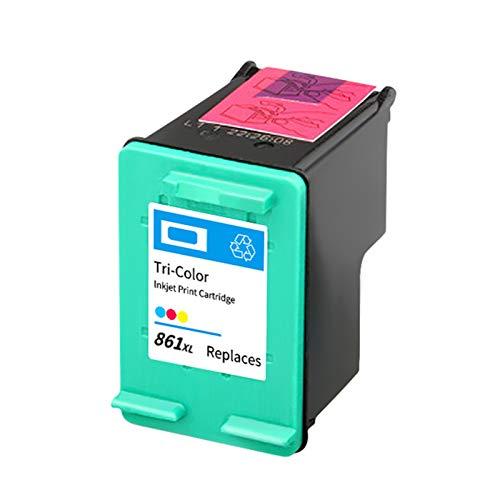 Cartucho de tinta 860XL 861XL, repuesto para impresoras HP Deskjet D4268 C4488 C4588 OfficeJet J5725 Cartuchos de tinta compatibles con color negro y tricolor
