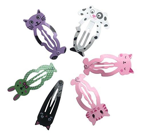 Bigood Tier Muster Design Kind Baby Mädchen Haarspangen Haarschmuck Haarnadel Haarklammen,3 Paar Katze