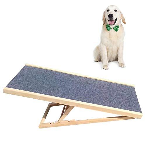 ZXL Tragbare Faltbare Sicherheitsrampen für Hunde, Holz Haustier Rampe/Leiter für Kleine Mittelgroße Hunde, rutschfeste Hundetreppe