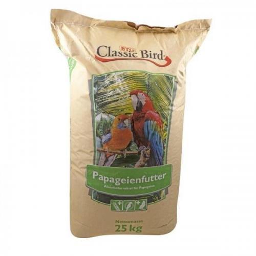 Classic Bird Papageienfutter Züchtermischung 25kg, Alleinfutter, Körnerfutter