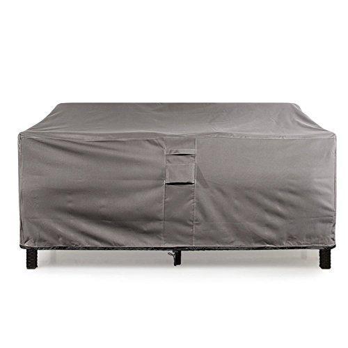 KHOMO GEAR GER-1038 Outdoor Lounge Sofa Patio Cover 76'' x 32.5''x 33'), Titan Series (Grey)