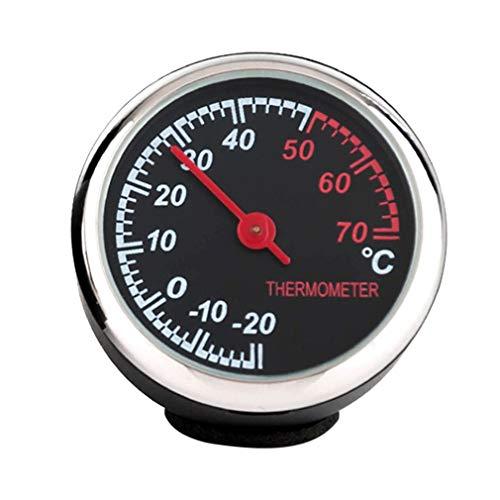 Kleine auto auto thermometer mooi design auto interieur zilver