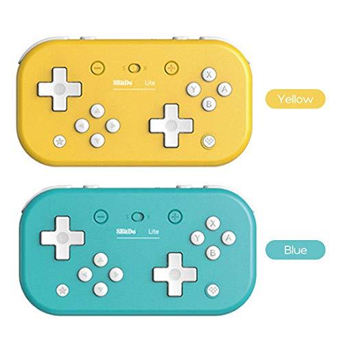 Leepesx Lite BT Gamepad Compatibile con Switch W-indows Steam Raspberry Pi W-ireless Connessione USB-C Controller di Gioco Portatile (Blu)