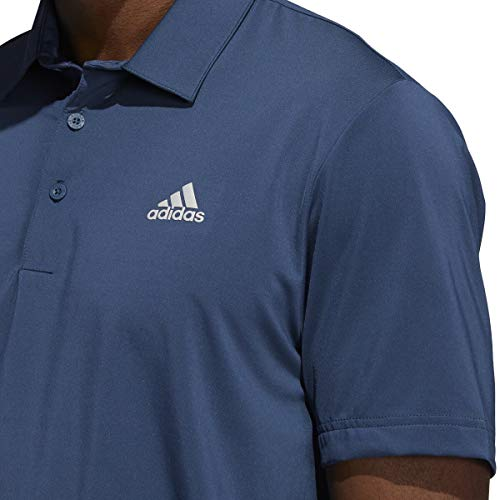 adidas Golf Mens Ultimate365 Solid LC Polo Shirt - Crew Navy - L