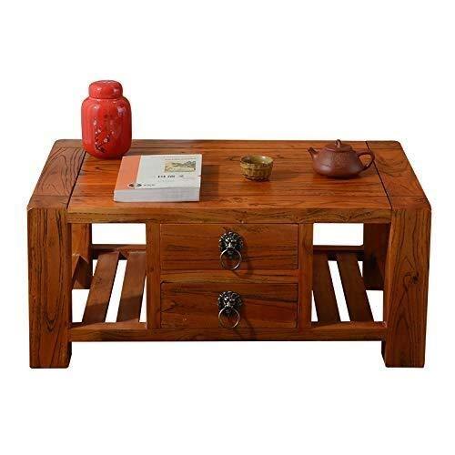 GDD Mesitas de Café Mesa de Centro Pequeñas mesas Tatami Mirador Mesa Baja de Madera Maciza con cajón Manera de la Tabla Piso Dormitorio (Size : 70 * 45 * 30cm)