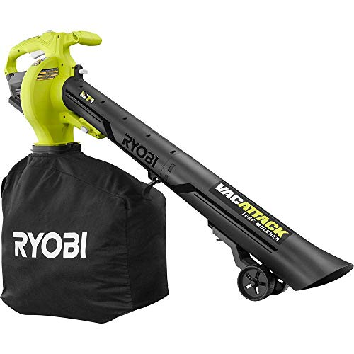 RYOBI 40-Volt VacAttack Lithium-Ion Cordless Leaf Vacuum Mulcher with Metal Impeller,Variable Speed Dial, and Heavy Duty Bag (Battery and Charger Not Included) (Renewed)