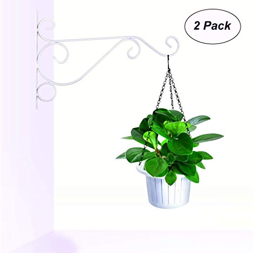 Blumenampel Halter FüR HäNgeköRbe Eisen Windspiel Laternen Garten Haus Wand Dekoration Wall Hanging, Retro Outdoor Indoor Garden Hook Iron Decorative Plant Brackets For Bird Feeder Wind Chime Lantern