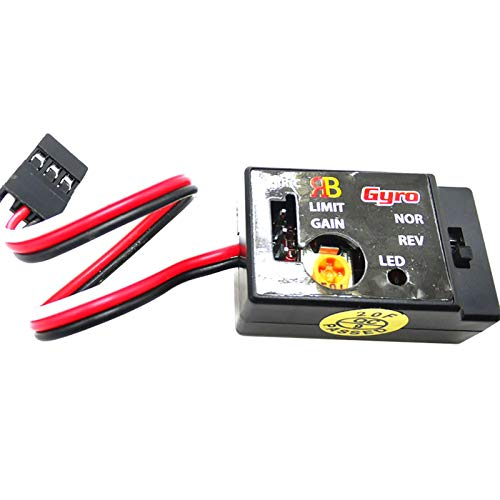 POHOVE Mini estabilizador de giroscopios para coche RC Drift Drift Drive, R484 Sensibilidad Sistema analógico SMM 4-6V Control Gyro para WPL D12 RC Cars