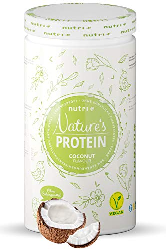 Natures Protein Coconut 500g - Natural Protein Powder Without Sweetener, Lactose, Sugar & Milk - 83,1% Protein - Vegetable Protein Powder