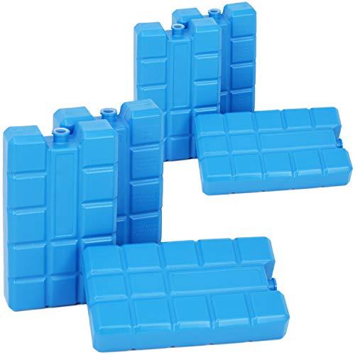 com-four® 6X Paquetes de Hielo Big Pack en Azul - Elementos de refrigeración para Nevera y Bolsa de frío - Baterías de refrigeración para el hogar y el Ocio