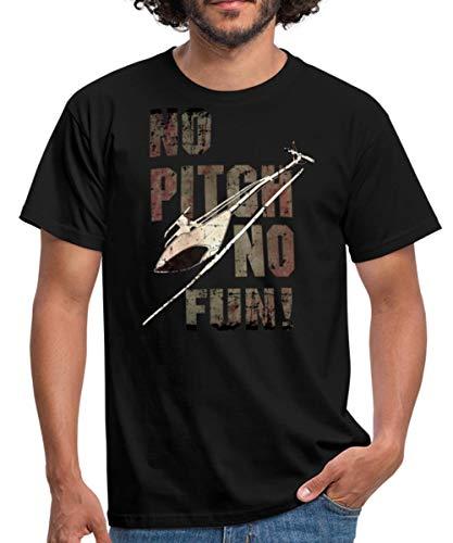 3D Heli Modellflieger No Pitch No Fun Used Rahmenlos RC Car Flugzeug Hobby Design Männer T-Shirt, 3XL, Schwarz
