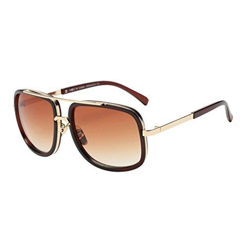 winwintom 2020 Moda Mujer Gafas de Sol, Verano Gafas de Playa, Nuevo Mujer Dama Casual Cuadrado Metal Marco Clásico Linda Gafas de Sol (Color_B)
