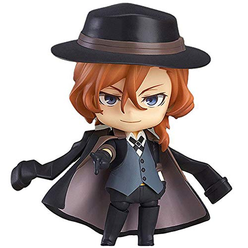 Aoemone Bungo Stray Dogs Nakahara Chuuya Q Version Nendoroid Action Figures With Accessories Movable Anime Figures Statue Toy Cartoon Game Character Model Desktop Decorations Ornaments