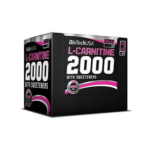 L-Carnitine Ampule 2000 limone 20 * 25ml - Shots di carnitina in dosi elevate - BiotechUSA