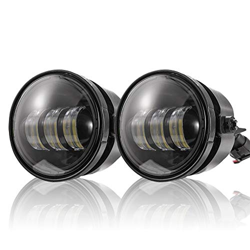 """4"""" Round Fog Lights Compatible with 2011-2014 Ford F-150 2X30W CREE LED Spot Fog Lamp Front Bumper Driving Light Bulb LED Passing Lights Smoke Lens"""