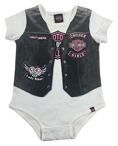 Harley-Davidson Chaleco para bebé niña con estampado de motociclista 3010627 (24 m), color blanco