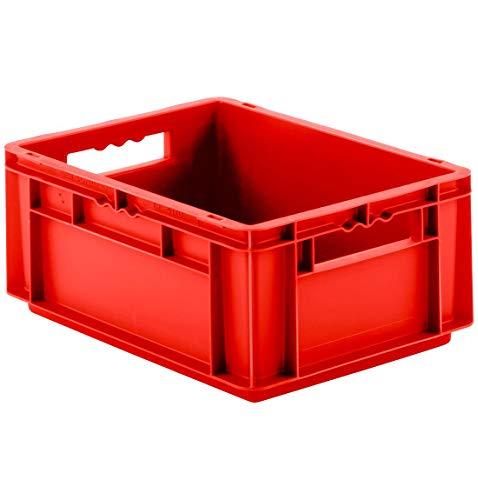 SSI Schäfer EF 4170 Eurokiste Kunststoffbox Transportbox offen ohne Deckel, 400x300 mm, 15,7 l, 15 Kg Tragkraft, Made in Germany, Rot