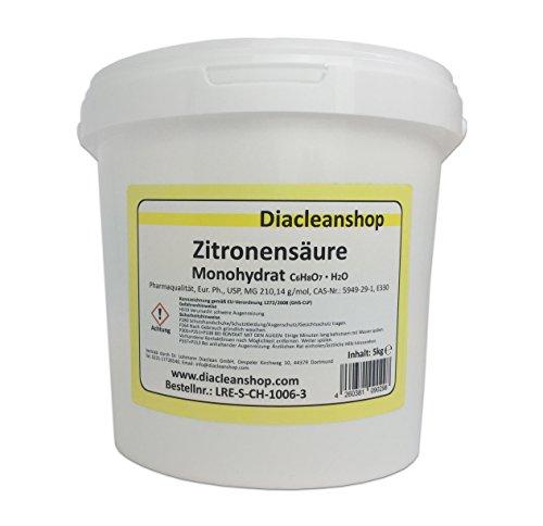 Zitronensäure Pulver 5kg - reiner als Lebensmittelqualität E330 - Citronensäure